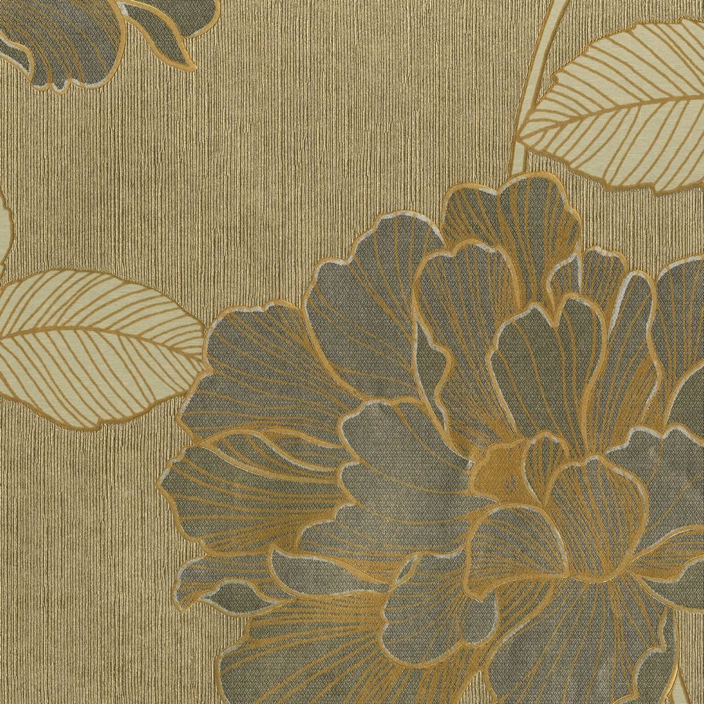 Muriva P/Silk Trail Wallpaper Gold at Fabric