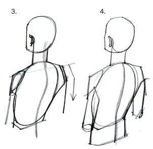 質問5 下から見た顔 後ろ斜め上から見た人物 手イラスト 解剖学的な描き方 イラストの手法