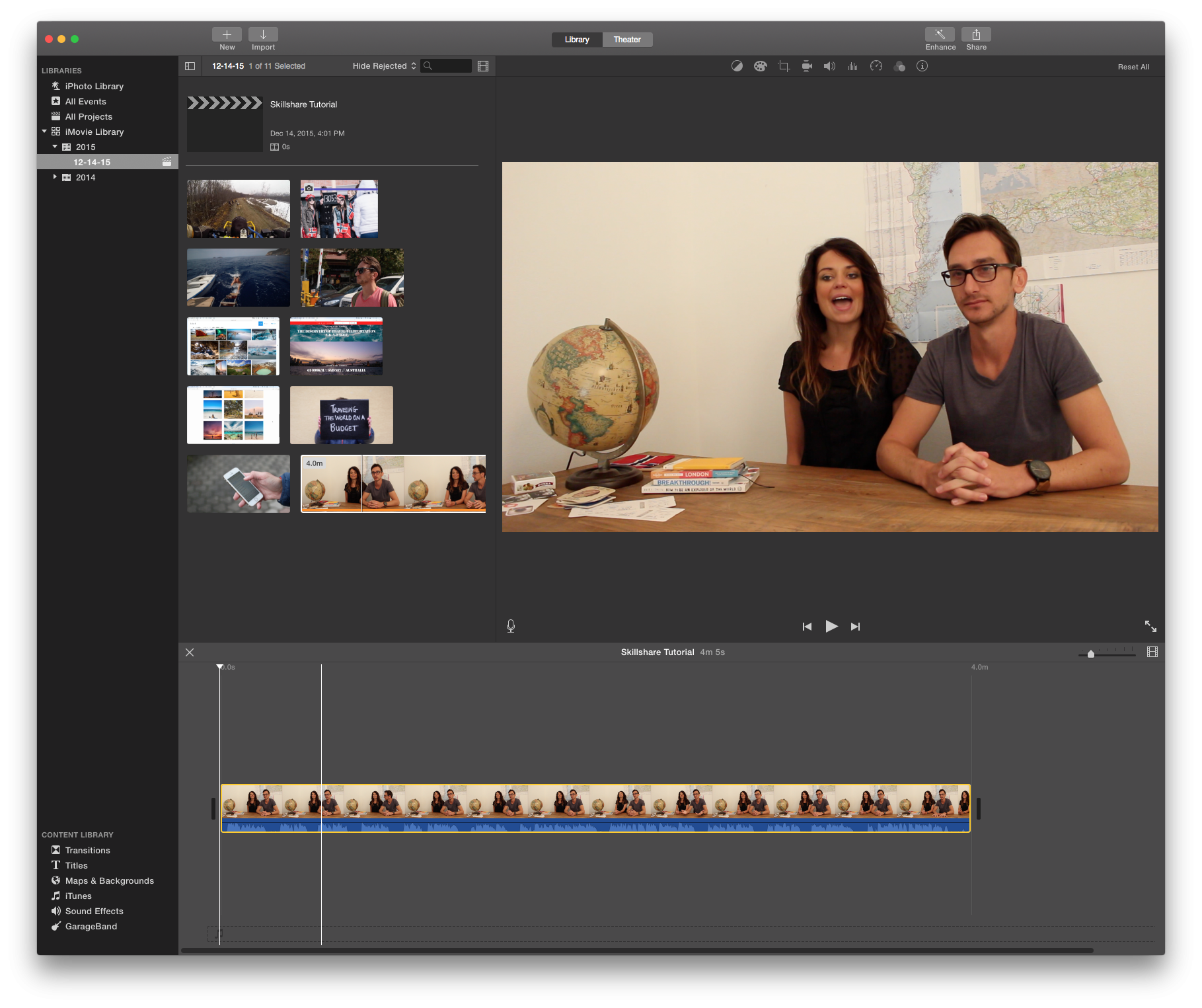 3) Editing and Exporting with iMovie - Skillshare | Film
