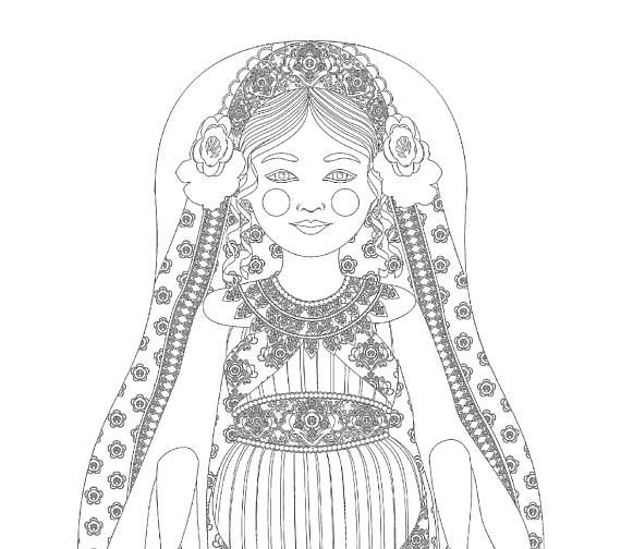 Queen Esther Matryoshka Coloring Sheet Printable file ...