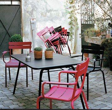 Tuinstoel en tafel van Fermob | Ideen nieuw huis | Mobilier jardin ...