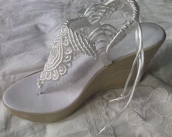 9432f2796 Sandalias bohemias de la boda