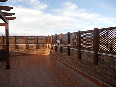 Celos as de madera para terraza y jard n madrid toledo - Pergolas para terraza ...