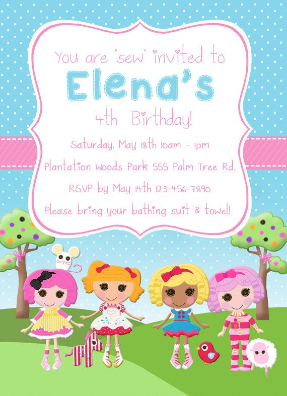 Lalaloopsy invitation digital file lalaloopsy pinterest lalaloopsy invitation digital file filmwisefo