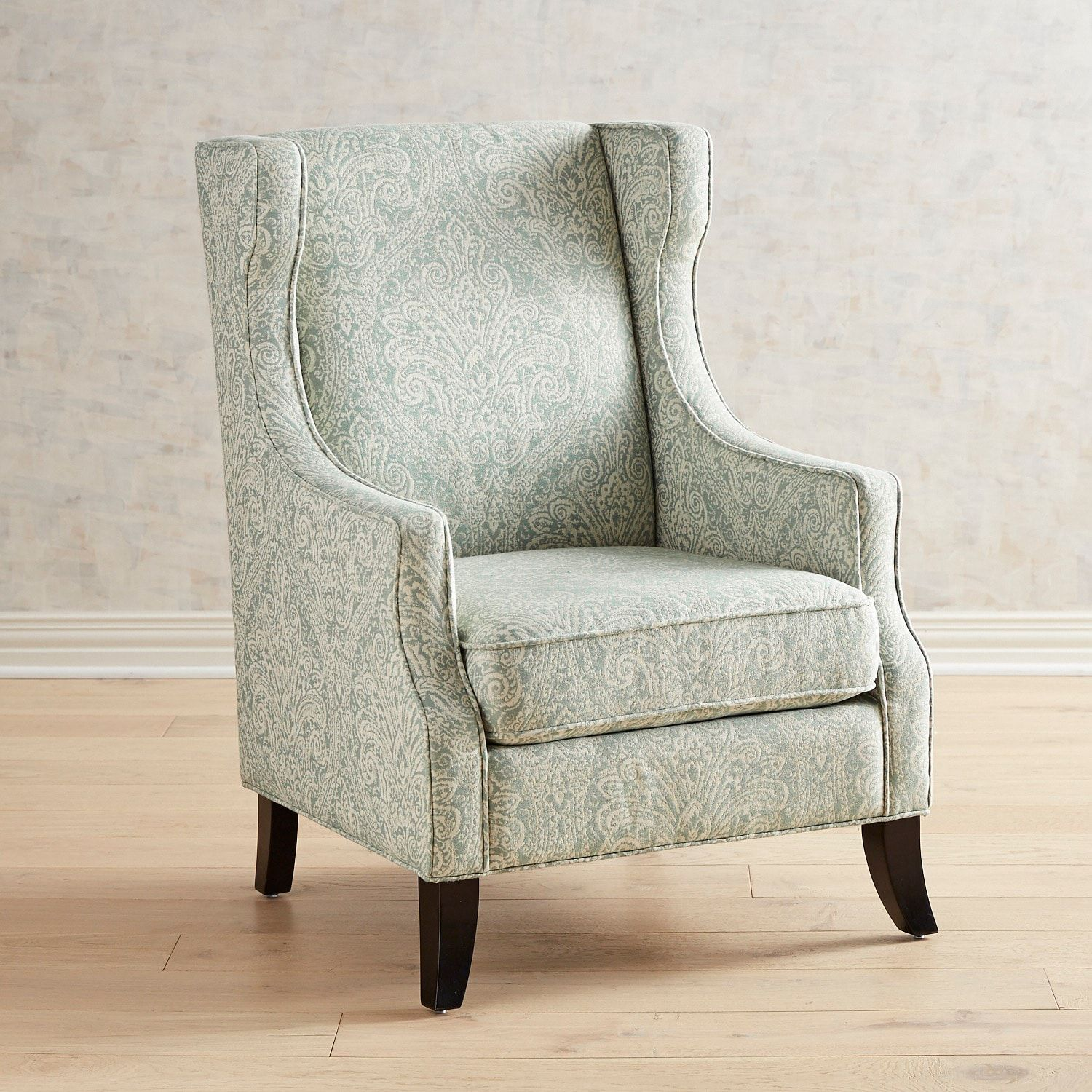 Alec Celadon Wing Chair | Pinterest | Products