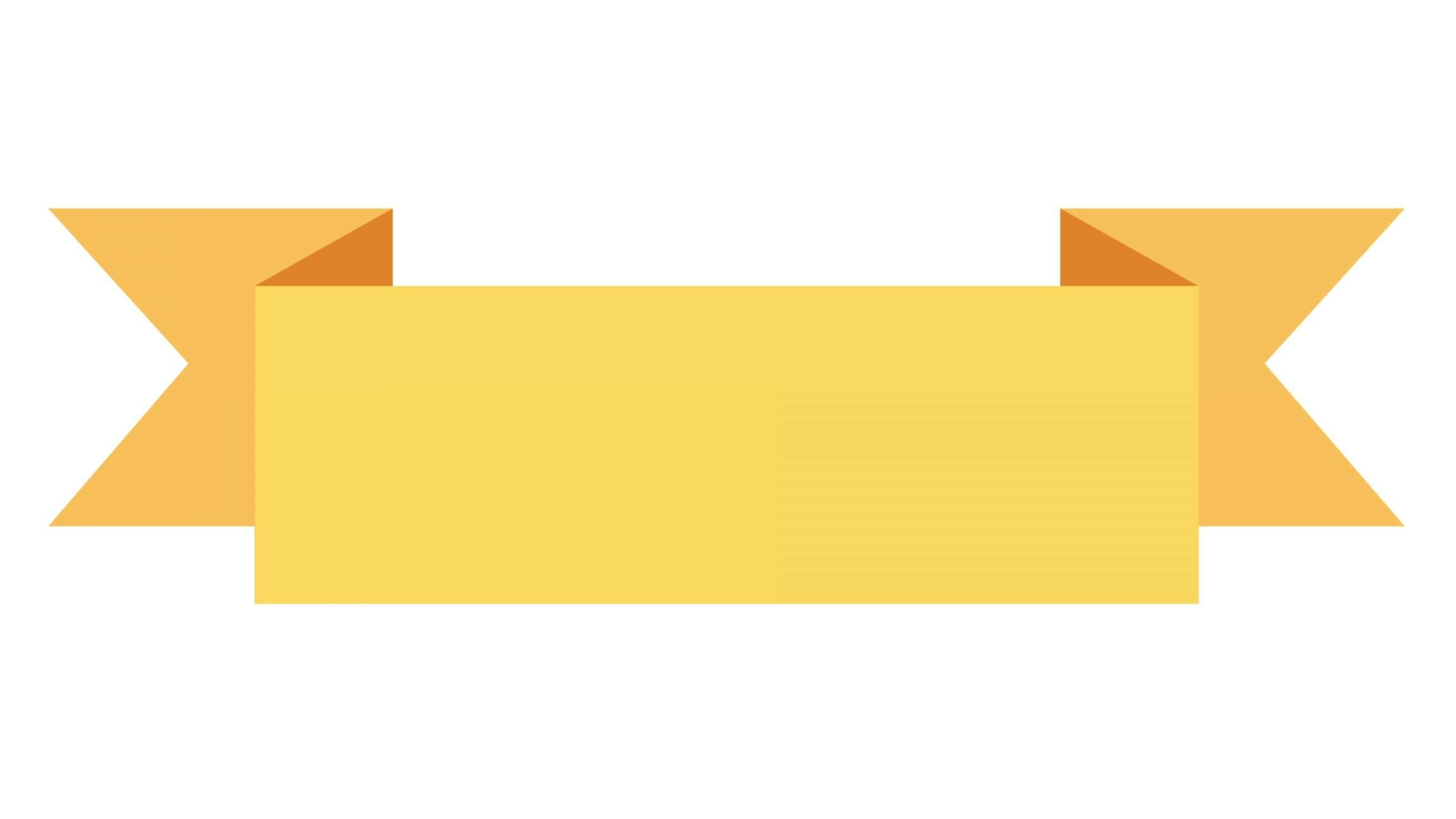 15 A White Banner Animated Png Ribbon Moder Ribbon Banner Yellow Ribbon Banner