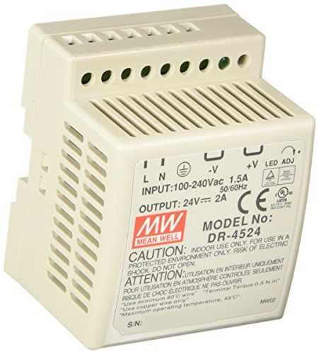 48W #Din-Rail Switching Power Supply24 Volts @ 2 Amps Specifications: • Universal Ac Input Range• #Protections: Short-Circuit, Overload, Overvoltage, Over tempera...