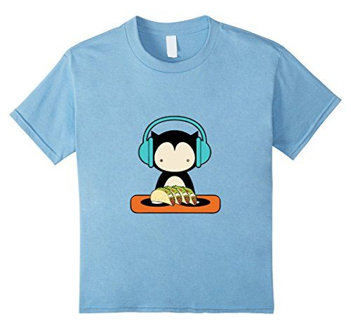 f655aa413 Kids DJ Cat Kitty Spinning Vinyls Tacos Headphones Music ...… Kids DJ Cat  Kitty Spinning Vinyls Tacos Headphones Music ...… Cool Graphic Tees