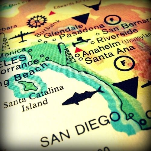 bogo sale SAN DIEGO vintage map print 8x8 by VintageBeach on Etsy