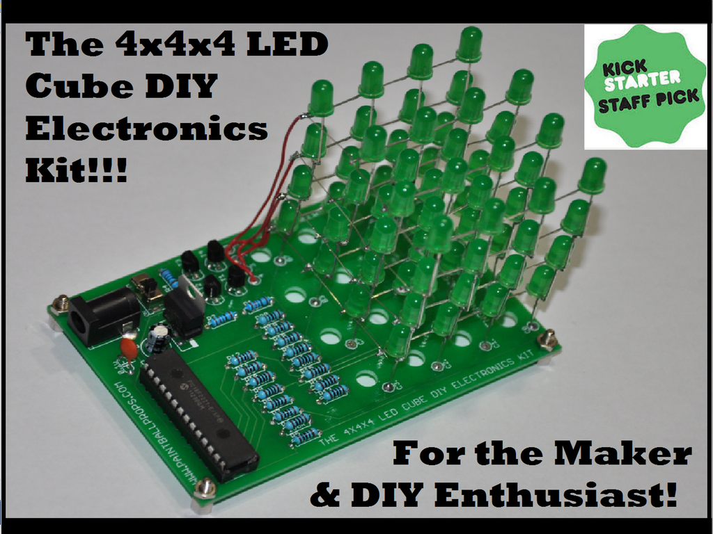 The 4x4x4 Led Cube Diy Electronics Kit Production Ready Wwwhomemadeelectronicscom