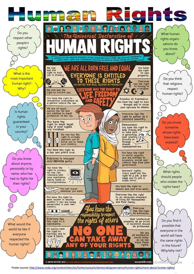 Human Rights Day (December 10) worksheet - Free ESL printable ...