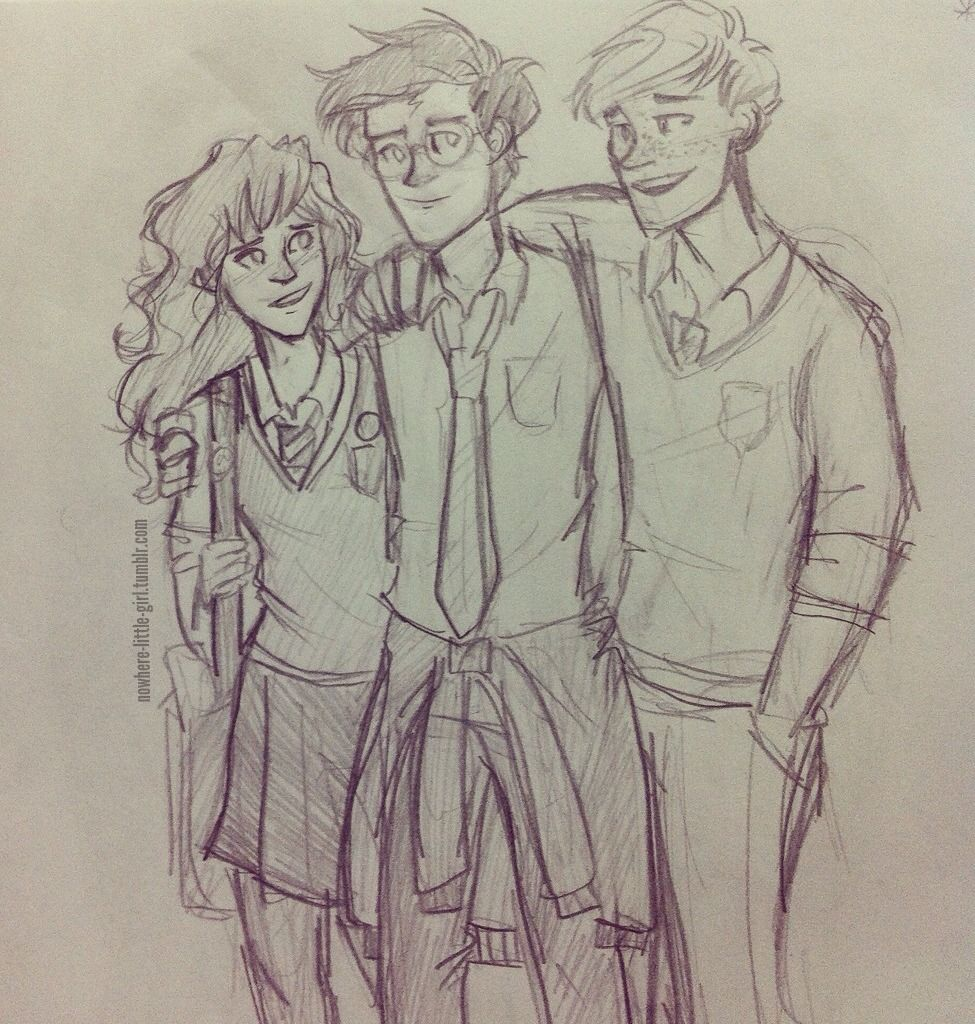Lost in Pepperland | Golden trio sketch! (With images) | Harry ...