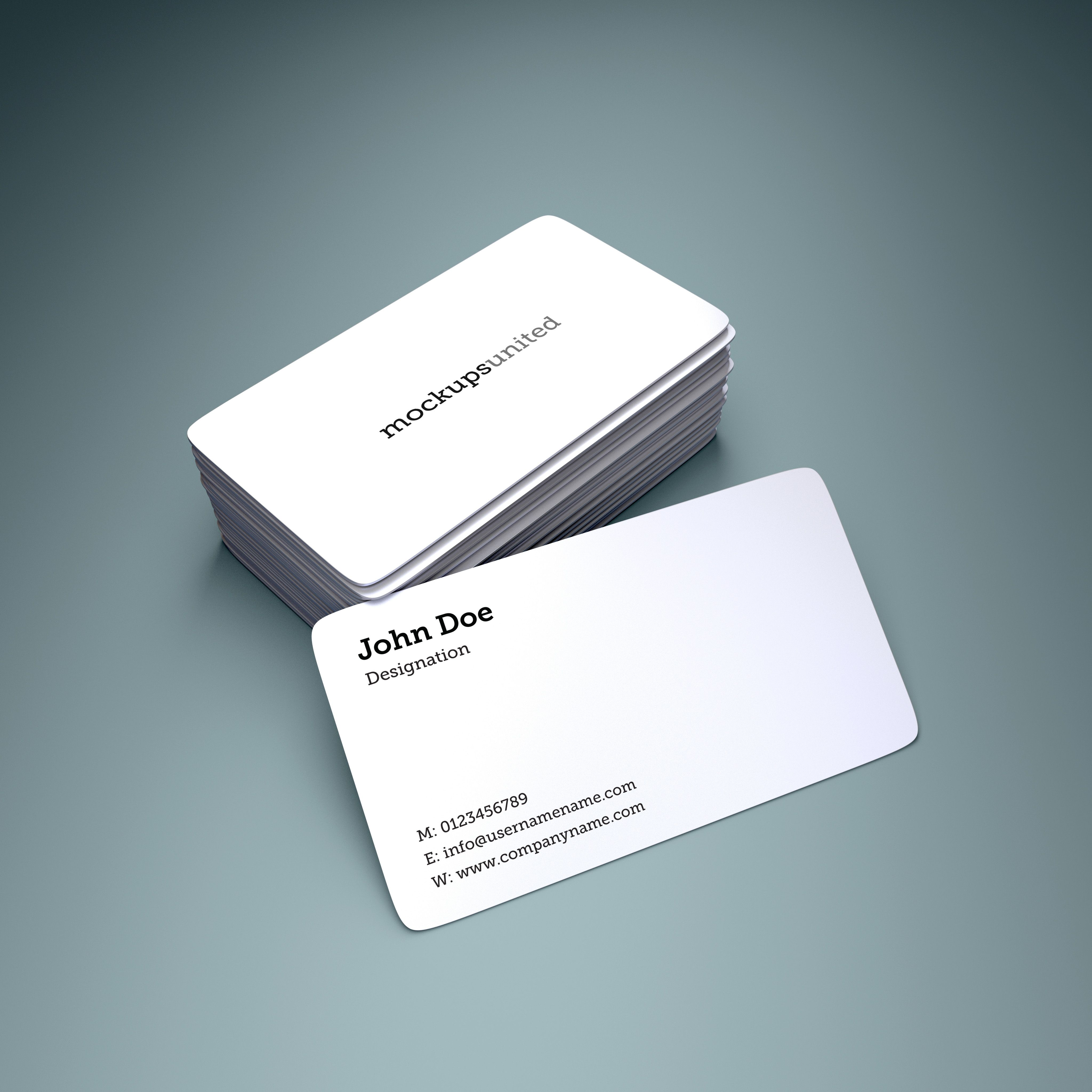 Rounded Corner Business Card Mockup Business Card Mock Up Business Cards Mockup