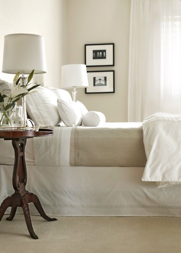 beige with black and white | Neutral bedrooms, Traditional ...