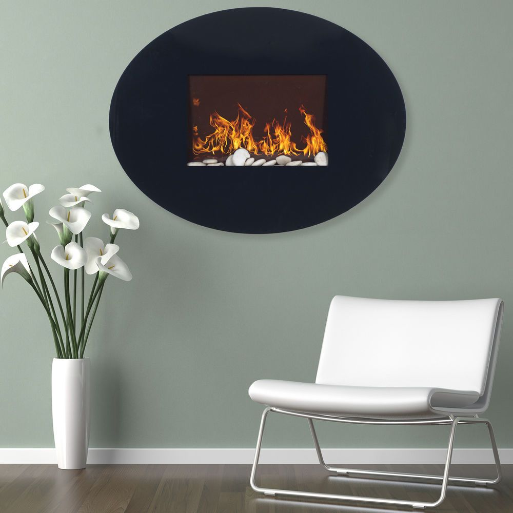 Peachy Wall Mounted Oval Shaped Electric Led Light Fireplace With Download Free Architecture Designs Scobabritishbridgeorg