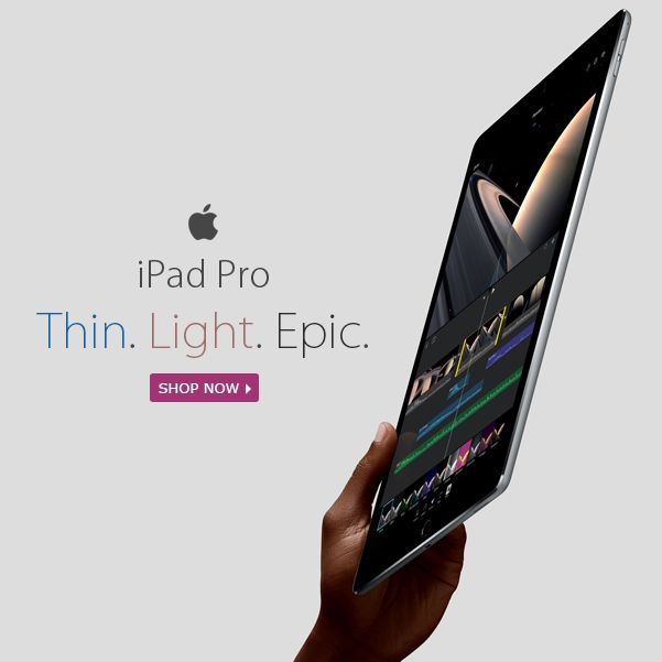 Just Arrived - iPad Pro (Thin. Light. Epic) Available in 32GB & 128GB Shop Now : https://goo.gl/z8NMa1