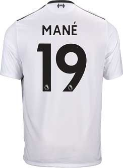 831eb5ec29d New Balance Sadio Mane Liverpool Away Jersey 2017-18