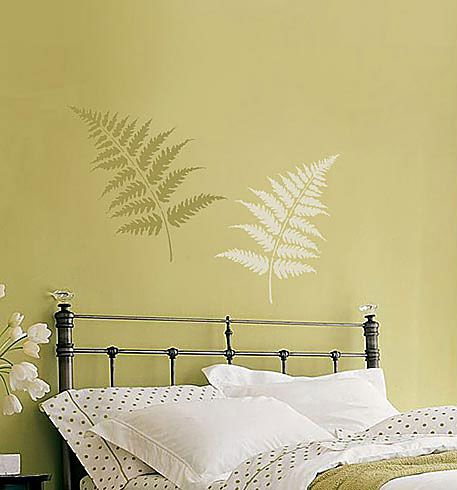 Large Fern Leaves Stencil Kit 2pc See More Flower And Vine Stencils Wall Painting