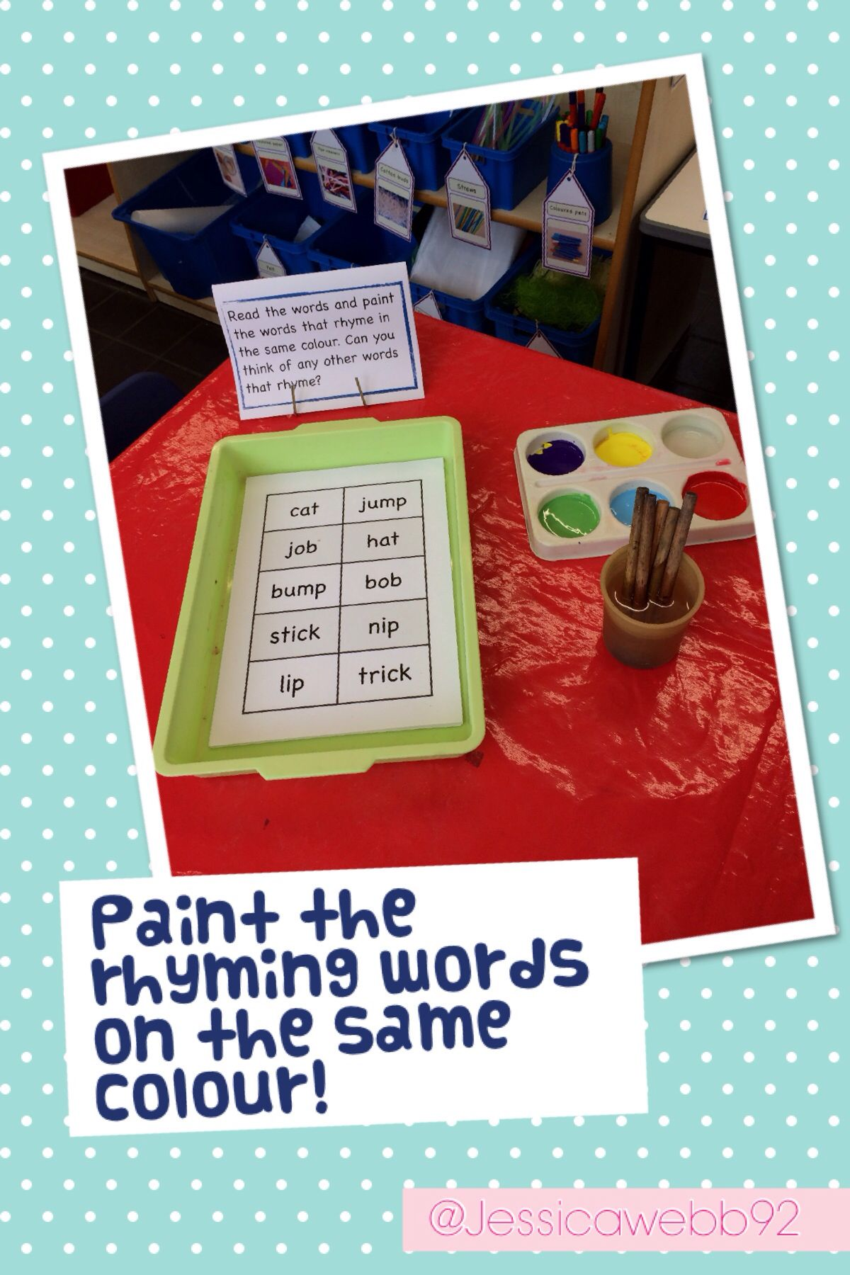 Worksheets Rhyming Words Reception Class rhyme and paint early years literacy pinterest eyfs paint