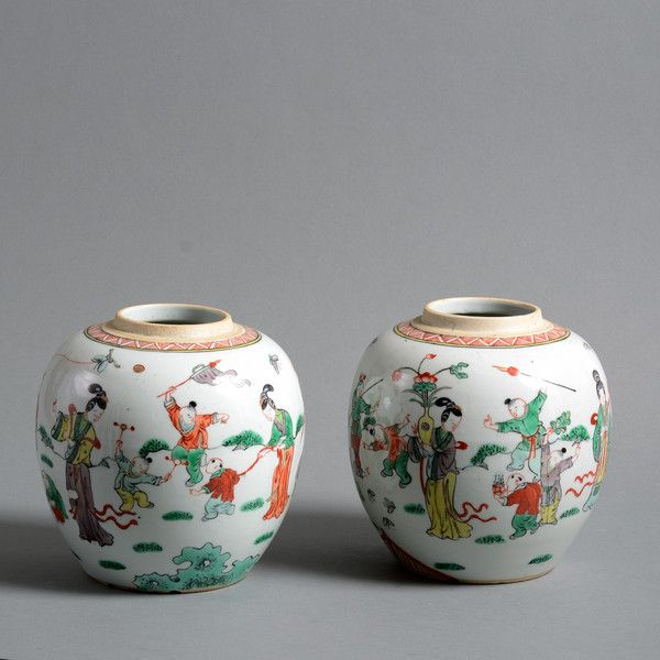 A 19th Century Pair of Famille Verte Jars