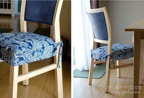 Copri Sedie ~ Come fare cuscini per sedie tutorial fare cuscini