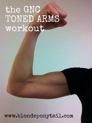 Blonde Ponytail: New Workout: Sculpt Your 'Guns'
