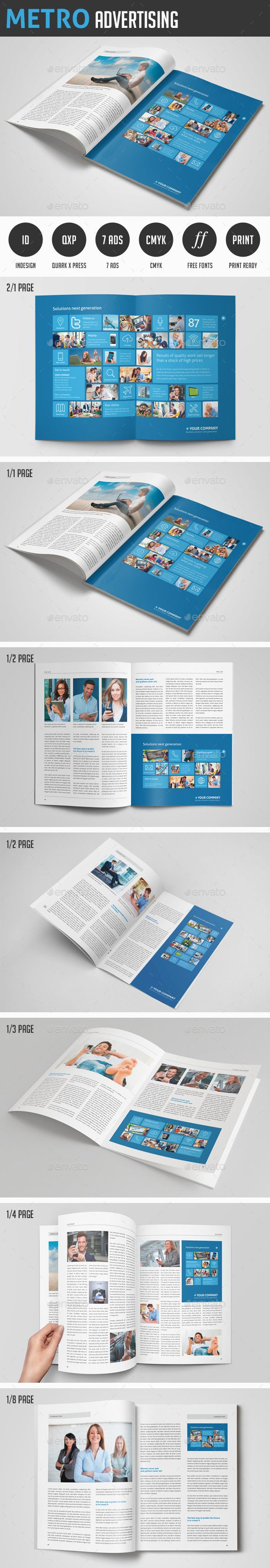 Metro Advertising Advertising Campaign Flyer Template And - 1 3 page flyer template