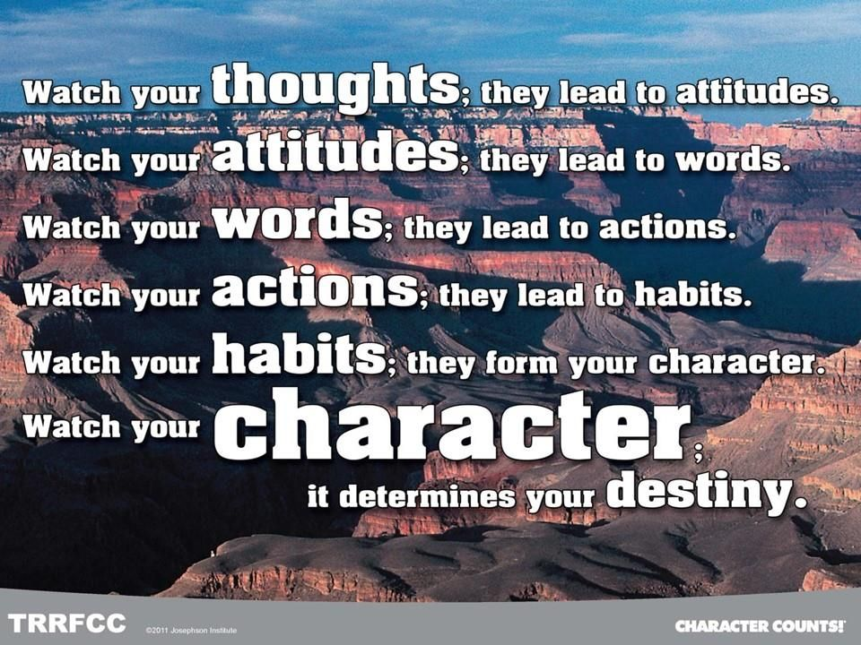 Your Character Determines Your Destiny - What Will Matter ...