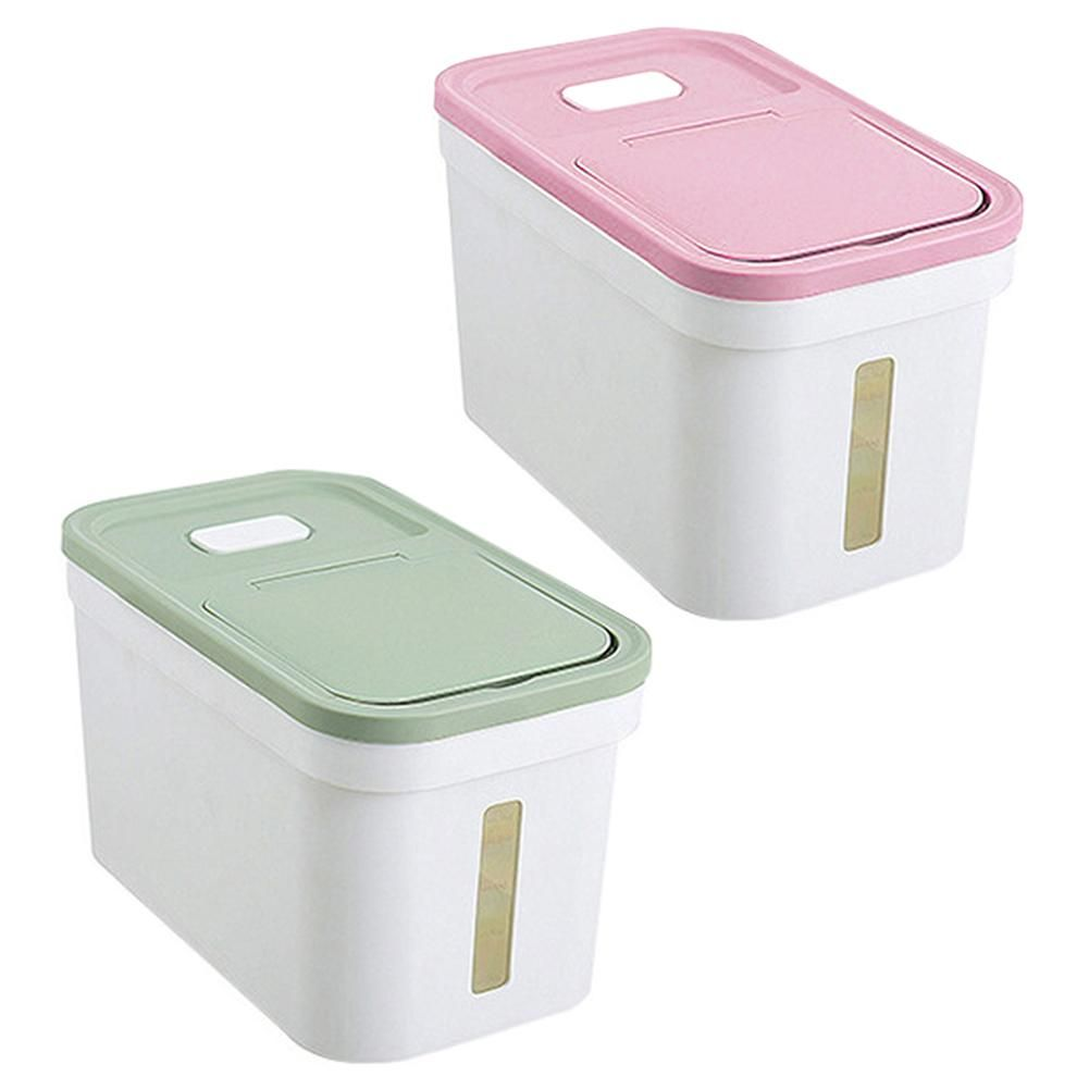 Large Kitchen Dry Food Containers Rice Flour Storage Bins With Lids Pink Flour Storage Storage Bins With Lids Large Food Storage Containers