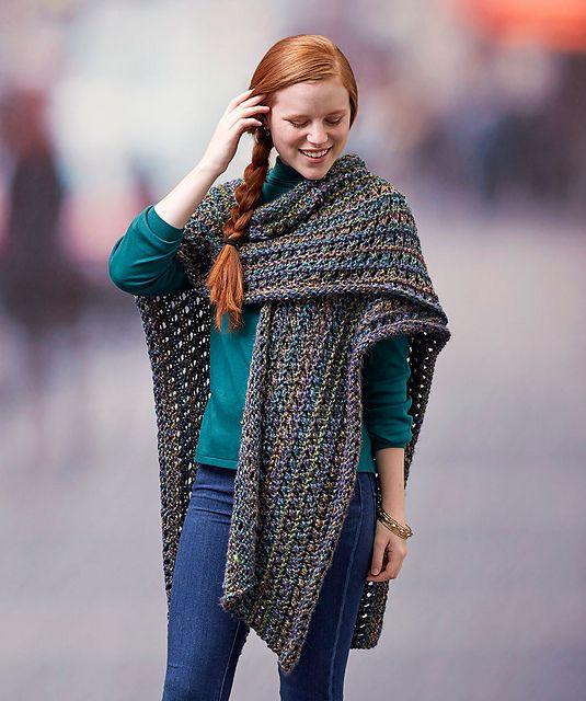 Ravelry: Woodland Ruana Wrap pattern by Lorna Miser … | Pinteres…