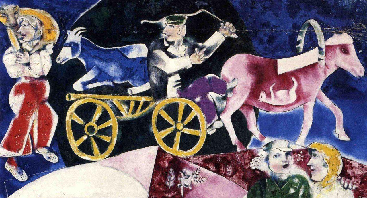 Картинки по запросу chagall le marchand de bestiaux