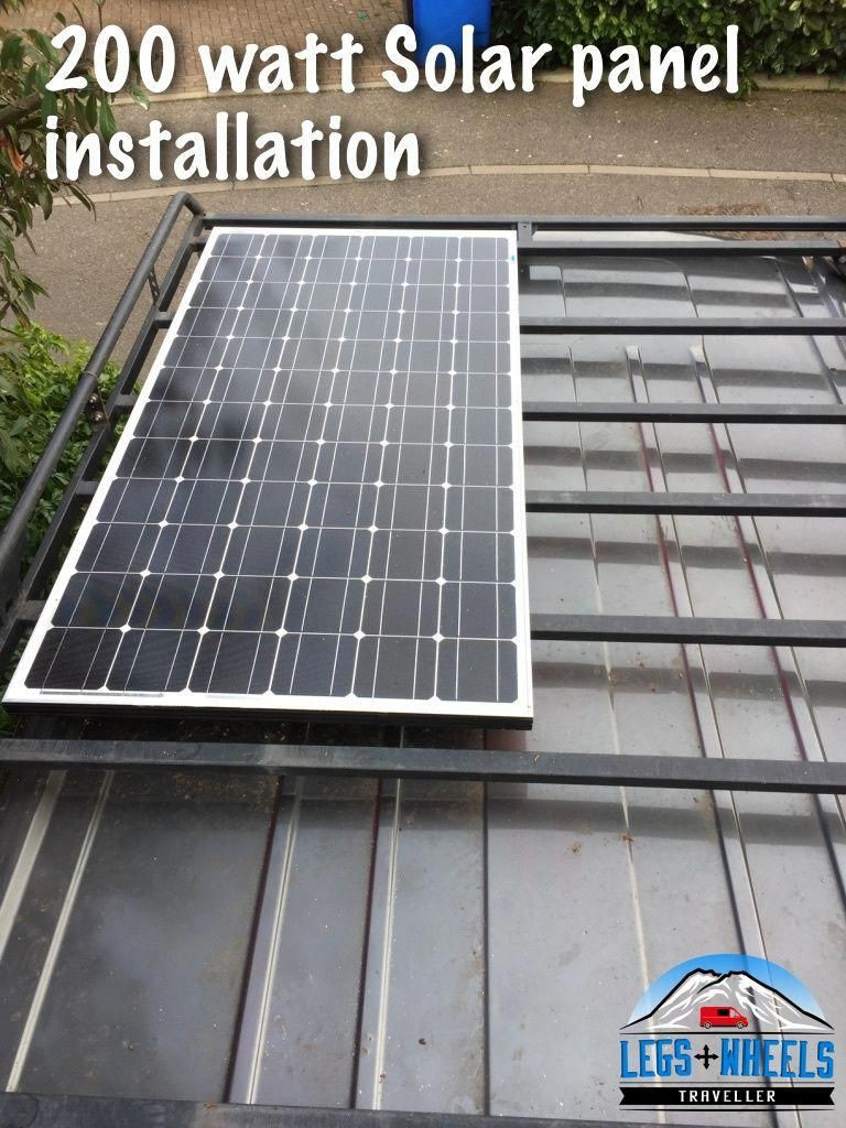 How I Installed A 200watt Solar Panel On My Van Conversion Roof Solarpanels Solar Panel Installation Solar Heating Solar Roof