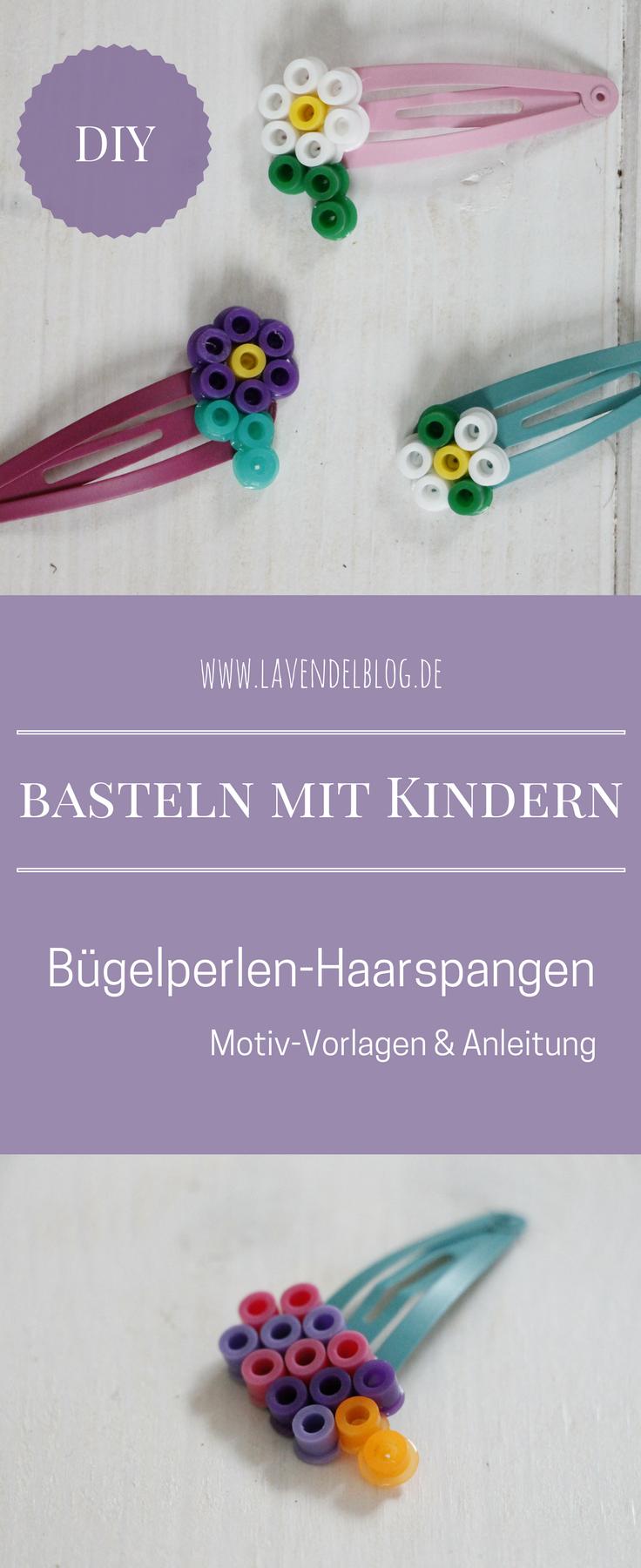 Basteln mit Kindern: Bügelperlen-Haarspangen – Lavendelblog