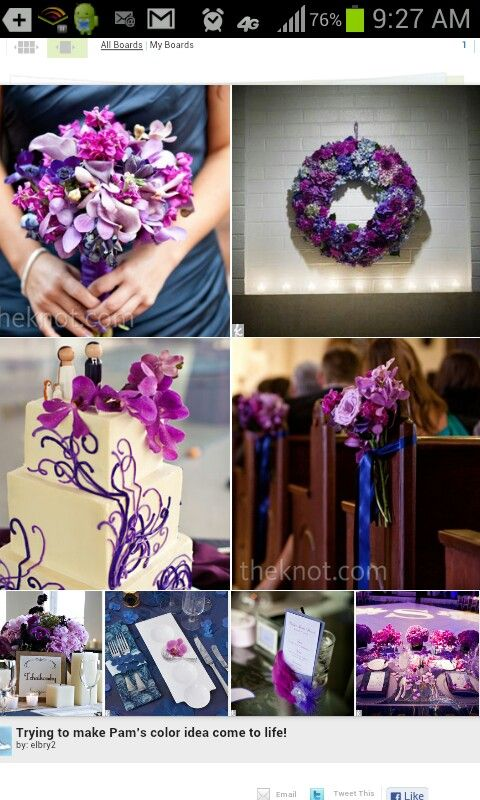 I want a purple wedding so bad but the navy matches my Navy purple color