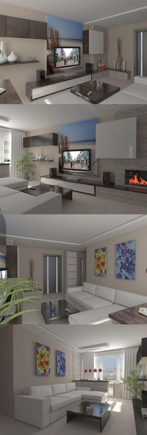 Simple, small #livingRoom #tvWall   Interior design   Pinterest ...