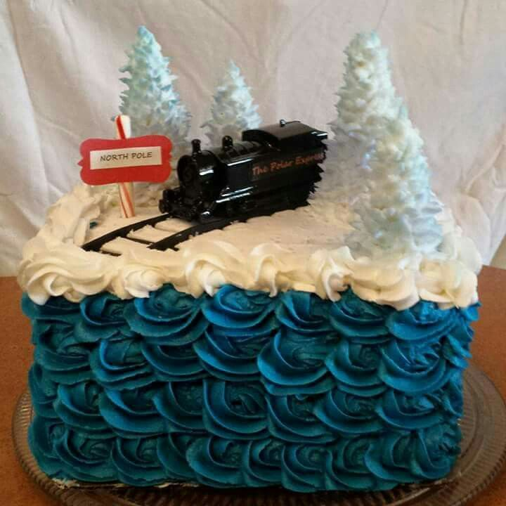 Terrific Polar Express Birthday Cake With Images Polar Express Birthday Funny Birthday Cards Online Elaedamsfinfo