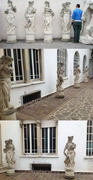 ANTIQUARIATO GOGNASRL: 4 Statue Giardino 4 Stagioni Pietra Di Vicenza Epoca  800  0930177 18000