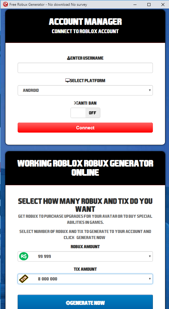 Android and iOS Roblox Robux Hack Cheats   Add 9999999