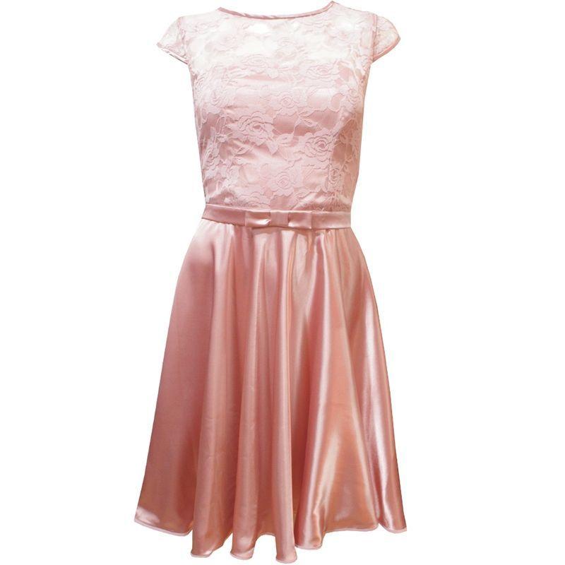 Vestido Tomara-que-caia com Blusa Sobreposta de Renda Rosé ...