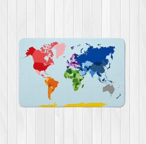 World map rug world map nursery rug custom kids by nickwilljack items similar to world map baby blanket baby name blanket monogrammed baby blanket receiving blanket custom baby blanket map on etsy gumiabroncs Images