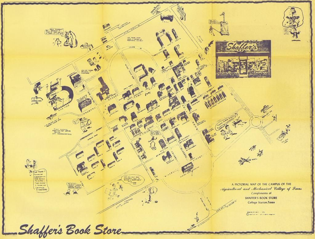 Campus Map Texas Am.1955 Campus Map Dive Into The Archives Texas A M Campus Map Texas