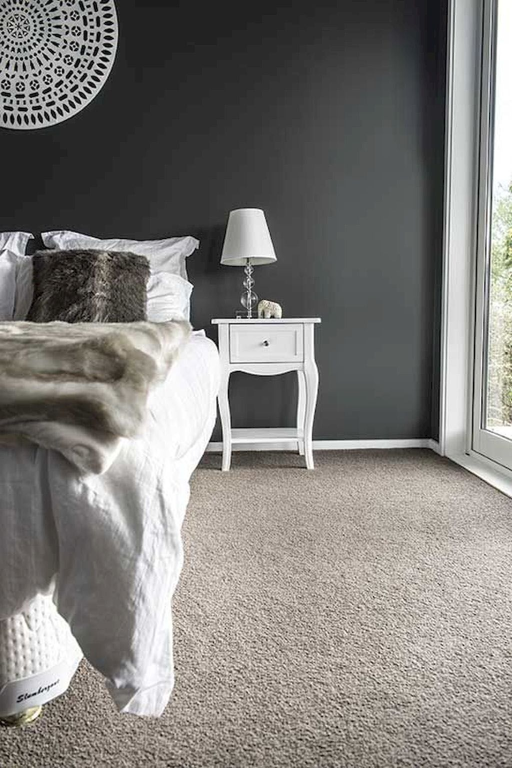 So Cool Grey Glitter Wallpaper Bedroom Ideas Only In Shopyhomes Com Simple Bedroom Bedroom Carpet Colors Grey Carpet Bedroom