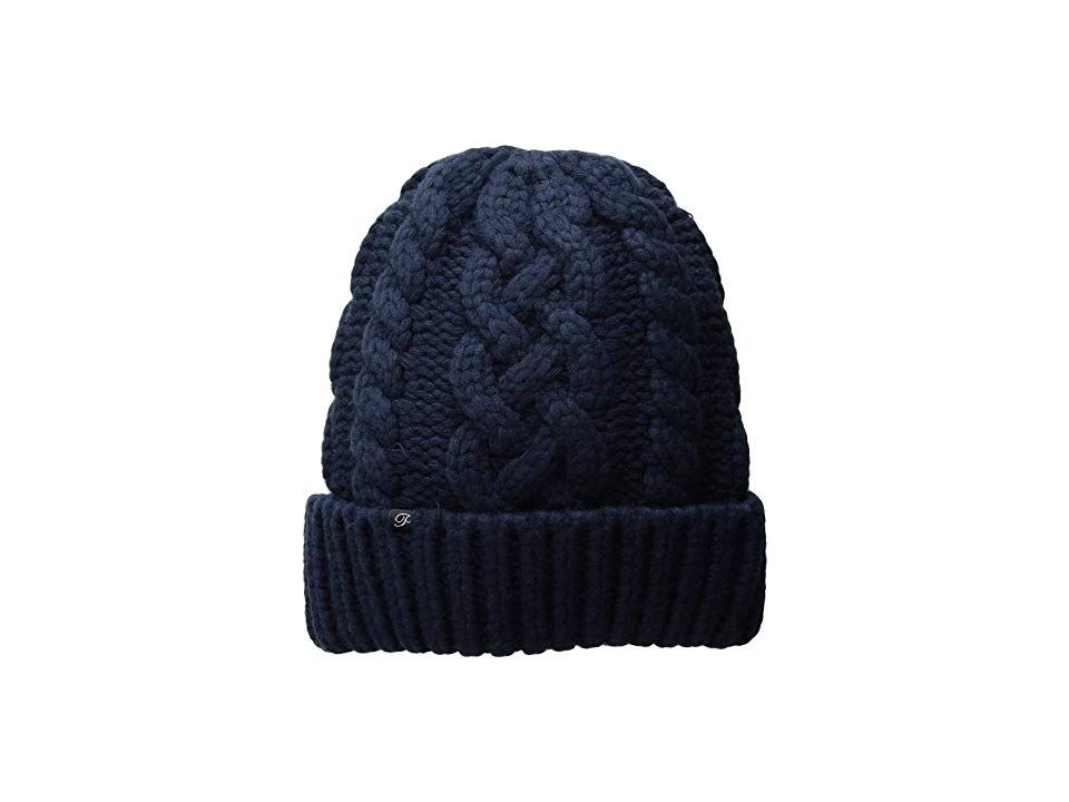 Plush Hand Knit Vegan Cashmere Hat (Navy) Beanies. Get your look ... 0f28f061f8e0