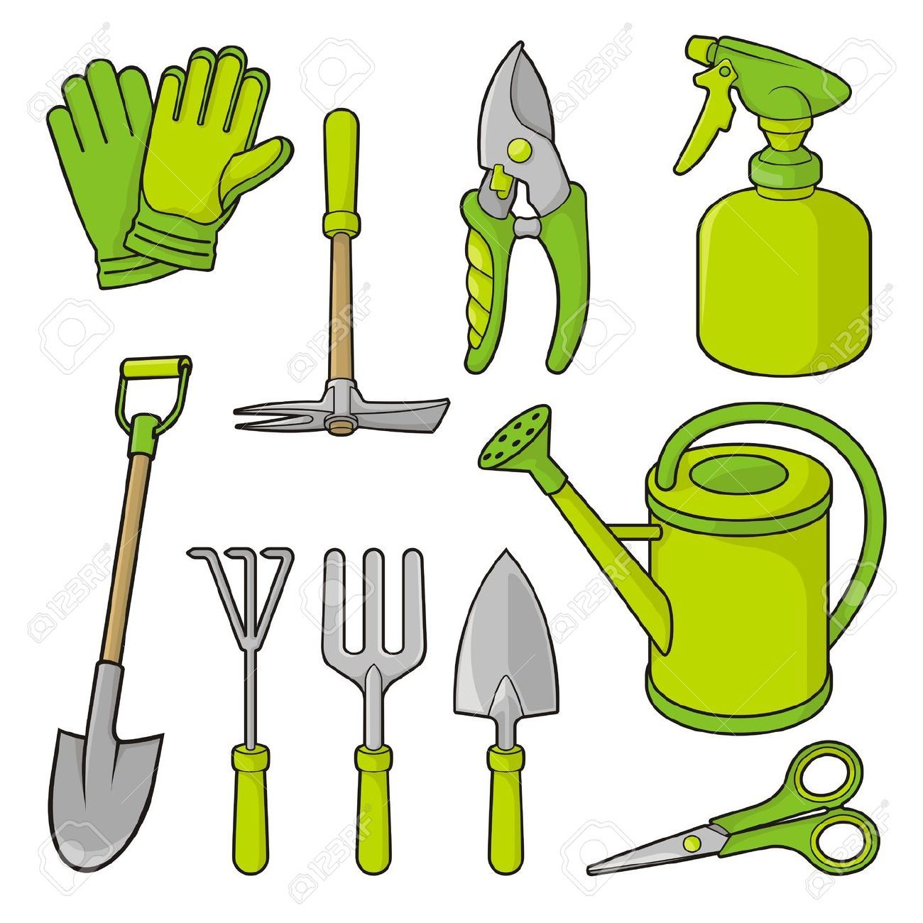 Gardening tools clip art free you can find out more for Tools and equipment in planting
