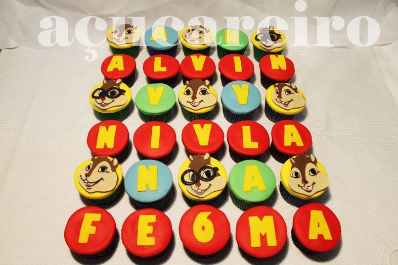 Cupcakes Alvin os Esquilos