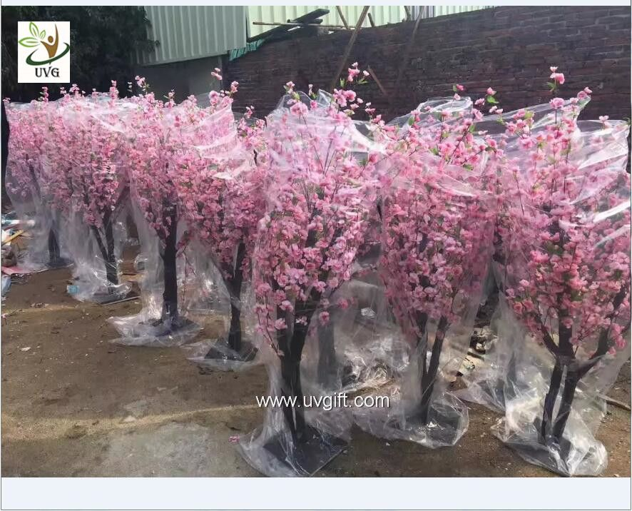 Uvg 2m High Outdoor Pink Cherry Blossom Tree Fake With Peach Flower Branches For Wedding Plan Cherry Blossom Party Artificial Cherry Blossom Tree Blossom Trees