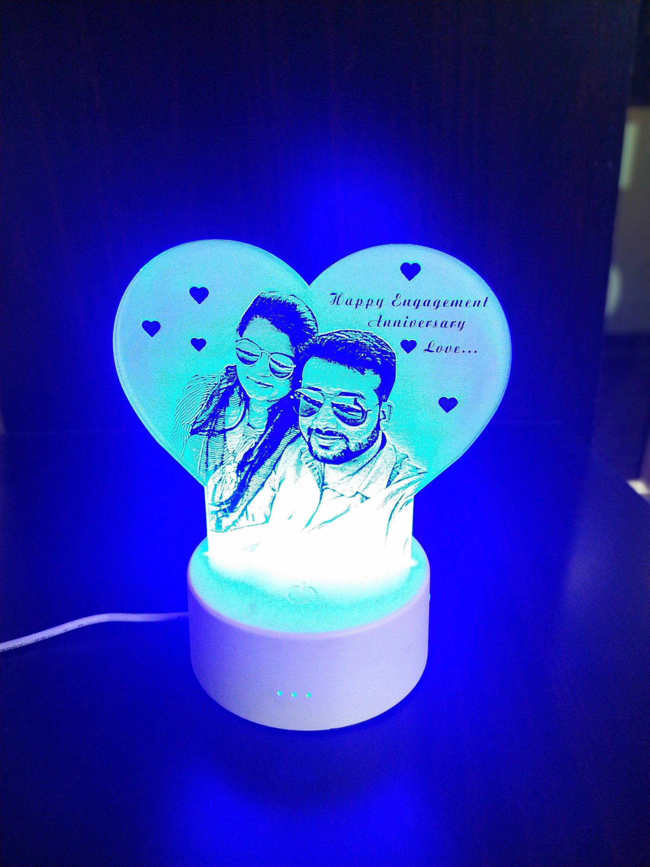 3d Illusion Lamp Personalized Lamp Photo Lamp Love Lamp Light Custom Lamp Anniversary Gifts Birthdaygifts 3d In 2020 Illusion Photos Photo Lamp 3d Illusion Lamp