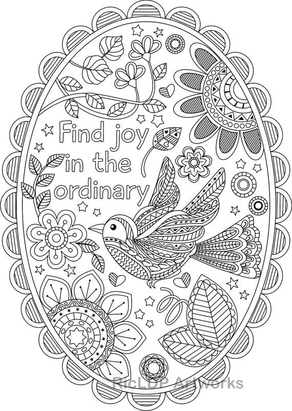 Find Joy In The Ordinary Coloring Pages With Without Texts