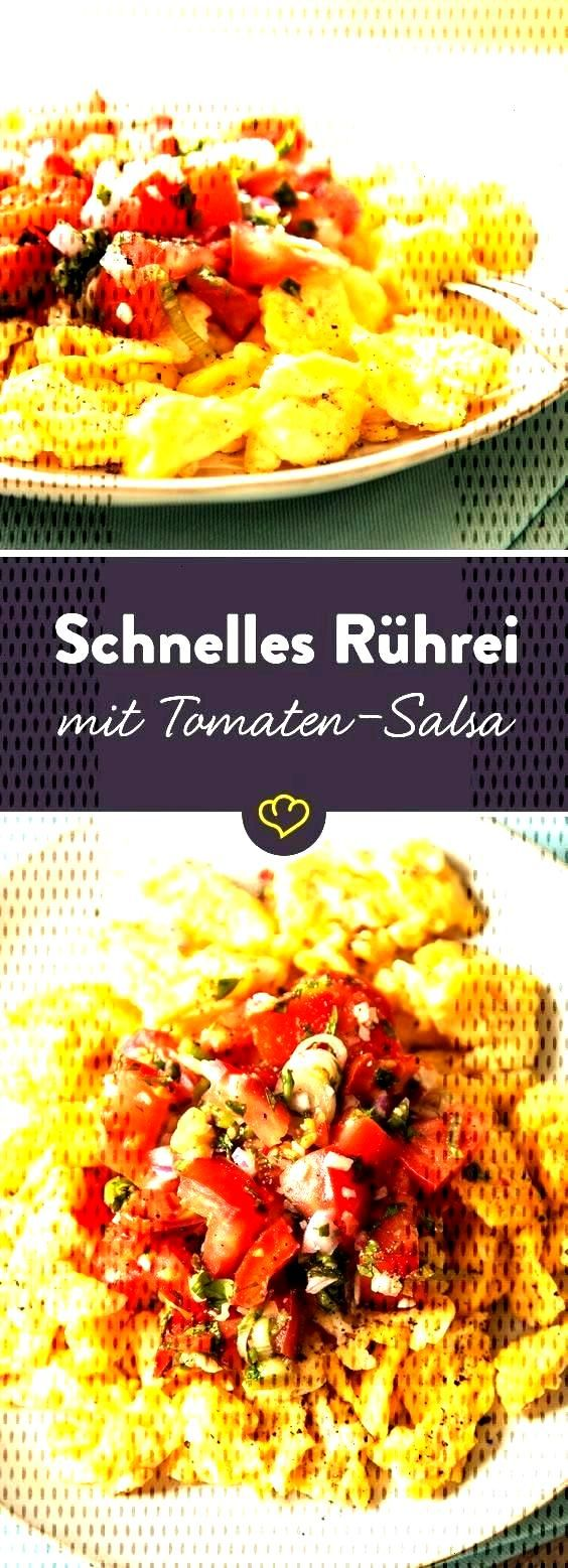 For a quick appetite scrambled eggs with tomato salsa - During the week, the scrambled egg breakf
