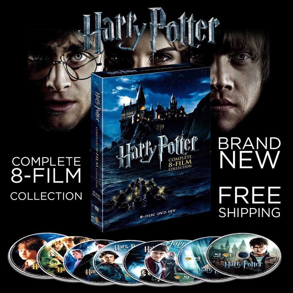 Harry Potter: Complete 8-Film Collection (DVD, 2011, 8-Disc Set) 1-8 BRAND NEW